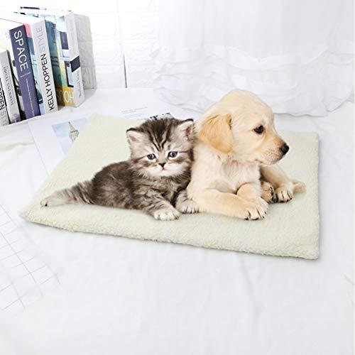 JOAN Manta Autocalentable para Perros y Gatos sin Crujidos y Lavable - Cama Perro Térmica 60 * 45cm