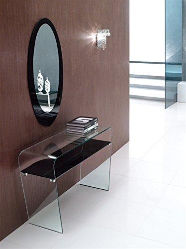 Grupo SDM - Recibidores Modernos de Cristal - Consola y Espejo Lauren...