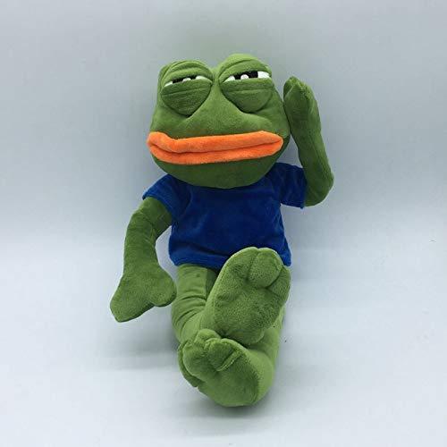 whbage Stofftier 42cm Green Sad Frogs Lustige Plüschtiere Weiche Kuscheltierpuppen Für Kinder Geschenk