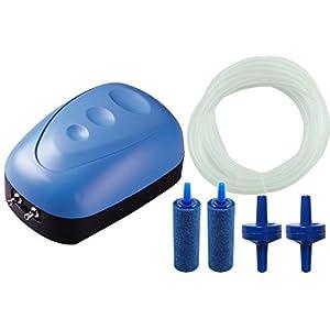 BPS-BPS-6030-Luftpumpe-Kompressor-mit-Doppelausgang-Sauerstoffpumpe-mit-Schlauch-und-Diffusor-5-W