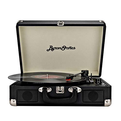 Big Save! Byron Statics Turntable Vintage Record Player Portable Vinyl Player Nostalgic Built in 2 S...