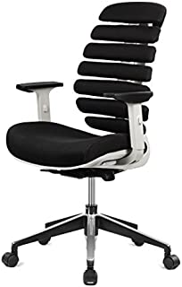 ERGO HQ Executive Office Chair Mid-Back Fabric Mesh Chair with Chrome Base and Adjustable Seat and Arm Rest (Black)