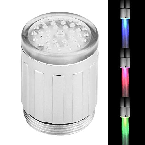Ymiko Sensor de Temperatura Que Cambia de Color Luz LED Grifo de Agua Grifo de Cocina Accesorio de baño, Luz LED Grifo
