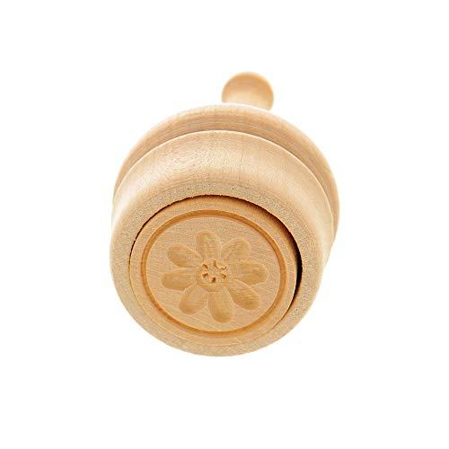 HOFMEISTER® Butter-Stempel, für 30 g Butter, 5 cm, Rosette, handgefertigt in Deutschland, Butter-Form zum Dekorieren, runde Durchstoß-Form, Butter-Model aus heimischem Ahorn-Holz