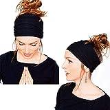 Nigoz - Diadema deportiva para mujer, accesorio para el pelo, ideal para yoga, pilates, gimnasio, diadema duradera y útil y exquisita artesanía
