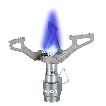 Lixada Mini réchaud à gaz Portable léger Pliable pour Camping randonnée Plein air Camping