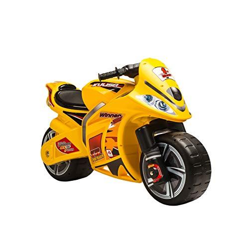 INJUSA - Laufrad Winner Gelb für Kinder ab 3 Jahren mit breiten Rädern und Tragegriff (194/000)