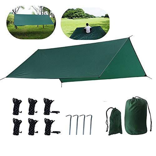 Draagbare Hangmat Camping Tarp Regen Fly, Beach Blanket, Waterdichte Tent Footprint Shelter Canopy Zonnescherm Doek Picnic Mat voor Outdoor Luifel Hiking Beach Backpacking