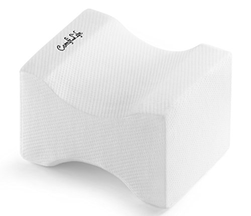 ComfiLife Orthopedic Knee Pillow for Sciatica Relief, Back Pain, Leg Pain, Pregnancy, Hip and Joint Pain - Memory Foam Wedge Contour
