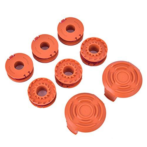 N - Juego de 8 cuerdas de nailon WA0004 para carrete WA6531, 2 piezas recortadoras para Worx