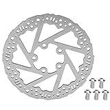 FOLOSAFENAR Disco de Freno de Disco de 135 mm Disco de Freno de Acero Inoxidable, para X-IAOMI M365PRO
