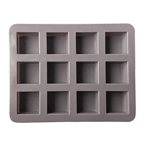 N-B 2 PièCes 12 CavitéS Mini Moule à Brownie en Silicone pour Four Moules à Chocolat en Silicone Plateau à GlaçOns Fabricant De Savon à GeléE Moule à GâTeau en Silicone