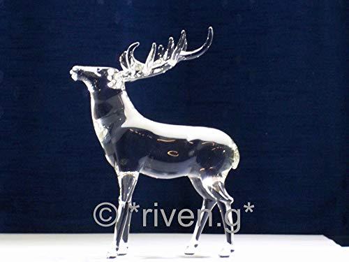 top-of-the-glass STAG Figurine @ Stunning Handmade Premum Glass REINDEER Ornament