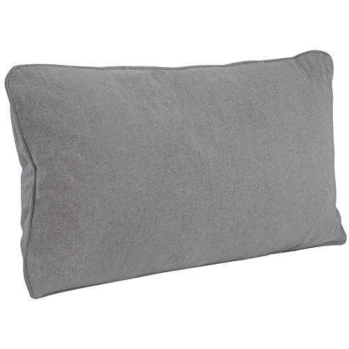 Sofakussen groot grijs 40x70 cm - sofakussen met vulling en overtrek van hoogwaardig Oeko Tex katoen voor uw huid - decokussen met vulling wasbaar - bank reuzen XXL kussen woonkamer