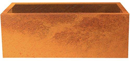 Palatino Exclusive Line Hochbeet/Pflanzkübel Lotte aus Corten-Stahl 120 x 40, Tiefe 50 cm, Modular