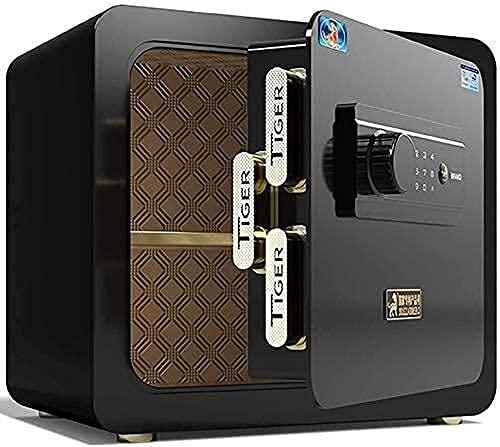 Caja fuerte para el hogar, cajas de seguridad para dinero, caja fuerte de seguridad electrónica, caja fuerte pequeña para oficina en el hogar, cajas fuertes digitales, 36 cm, totalmente de acero, ant