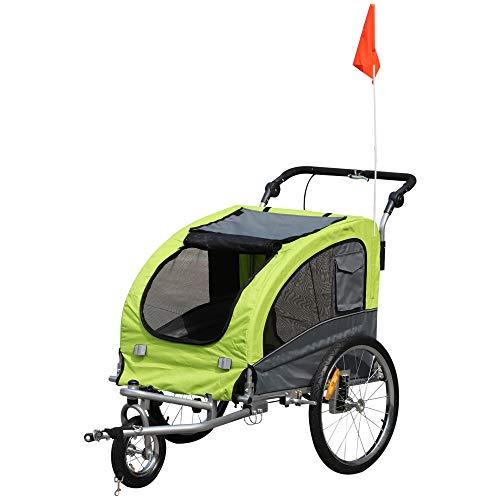 Pawhut Remolque Bicicleta Perros Carro Cochecito para