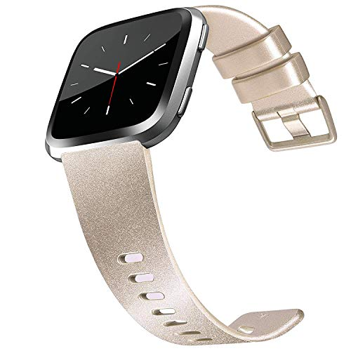 Tobfit Sport Bands Compatible with Versa/Versa Lite/SE, Soft TPU Wristbands Accessories for Women Men, Champagne Gold, Small
