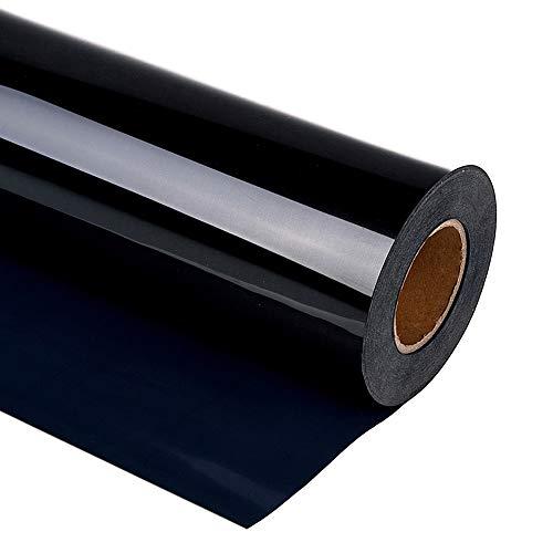 "guangyintong HTV 12"" x 10ft Roll - Iron On Heat Transfer Vinyl for T-Shirt Matte (Black A2)"