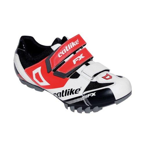 Catlike Scheme MTB - Zapatillas de ciclismo unisex, color blanco/negro/rojo mate, talla 45