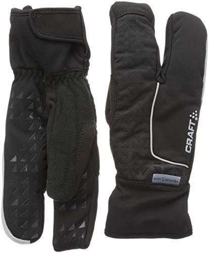 Craft Siberische Handschuhe 3 Finger Ski Langlauf Unisex Erwachsene, Schwarz, FR: L (Größe Hersteller: 10 L)