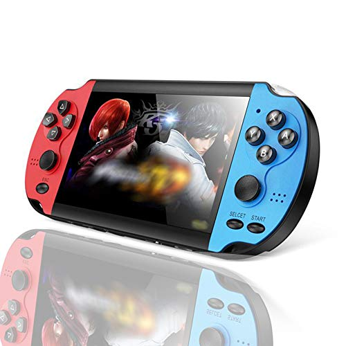 LKTINA Handheld Portable Game Console, with 2 Joysticks 8GB 4.3'' LCD Screen MP3 MP4 MP5 Player with Camera Built in 1000+ Classic Video Games of SMS/CPS/GB/GBA/GBC/MD/SFC/NES emulators (Medium)