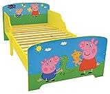 FUN HOUSE Peppa Pig Lit pour Enfant 140X70 CM avec Lattes, MDF, 144 x 77 x 59 cm