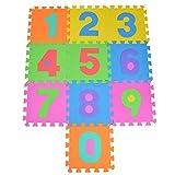 Puzzlestar 123, colchón de 10 Piezas. Colchoneta Grande de EVA Antideslizante - Cada Pieza 30x 30x 1cm - colchoneta Puzzle con números