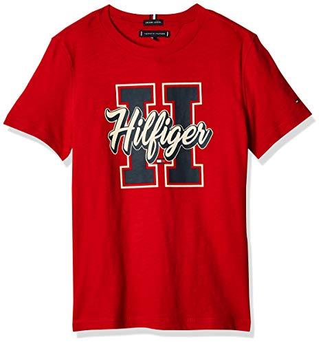 Tommy Hilfiger KB0KB06099 Playera Para Niños, Talla 10, Color Rojo