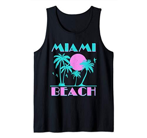Adults Miami Beach Cool 80s Neon Tank Top, Men, Women, S to 2XL