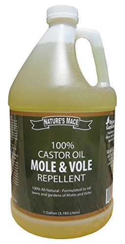 Mole Repellent 100% Castor Oil for Lawn, Garden and Landscapes