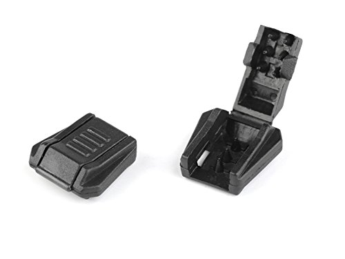 Kordelendstück Kordelstopper Kordelenden für 6-8mm Kordel, 10 Stück schwarz