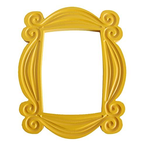 Cornice per porta realizzata a mano monica, in legno, colore giallo, collezione di decorazioni per la casa, regalo per i tuoi migliori amici