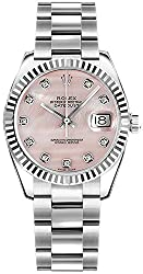 178274 Pink Dial w/Diamond Hour Markers 31mm Watch