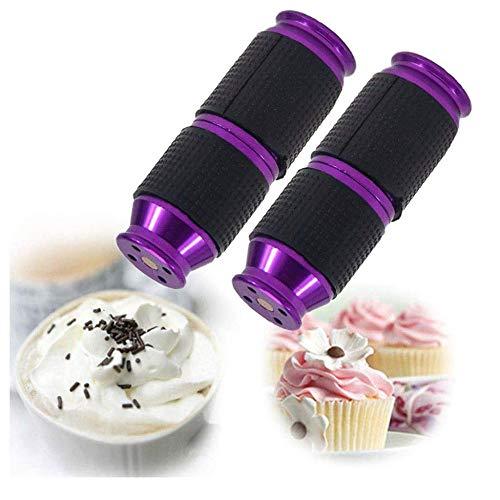 PsSpCo Sahnespender Düsen,Sahnebereiter Aluminiumlegierung,Cream Whipper Dispenser,Eine Andere Arbeitsweise: Kann Sie Laut Und Glücklich Zum Lachen Bringen,Purple-2pcs