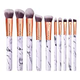 Make Up Brushes 10 Marbled Makeup Brushes 5 Large 5 Small Eye Shadow Beauty Makeup Tools
