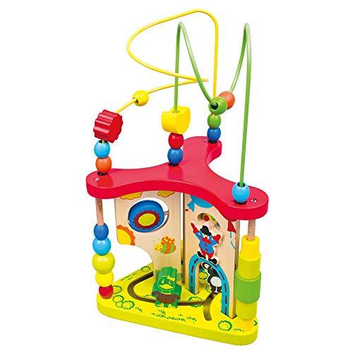 Mertens 84202 Bino Grand nœud de motricité pour enfants à partir de 1,5 ans et plus (jouet de motricité pour favoriser la coordination œil-main, perception et motricité fine), multicolore