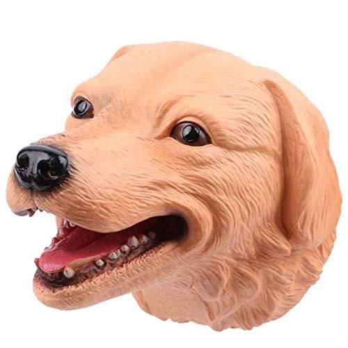 Skysep Títere Niños Cabeza de Animal Marioneta de Mano Suave Niños Figura de Perro de Juguete Modelo Realista Cabeza de Animal de Historias Aprender