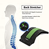 Lower Back Stretcher with Magnetic Acupressure Points Multi-Level Lumbar Stretching deviceLumbar for Pain Relief Chronic Herniated Disc Sciatica Scoliosis Spinal Back Stretcher for Relieve Back Pain