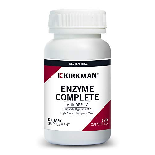 Kirkman EnZym-Complete/DPP-IV™ || 120 Vegetarian Capsules || Enzymes || Gluten Free || Casein Free || Tested for More Than 950 Environmental contaminants