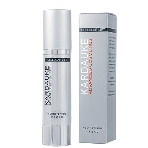 KARDAUKE Youth Peptide Cream (Cosmeceutical) / Telomere Lifting Hyaluron Creme (Anti-Aging) für mehr Spannkraft, Festigung und Jugendlichkeit.