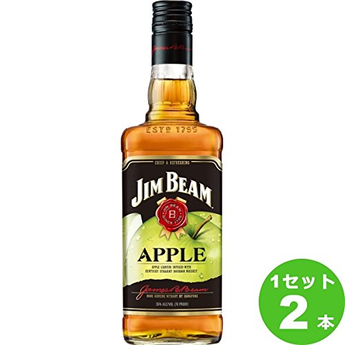 Jim Beam Apfel Likör Bourbon Whiskey (2 x 0.7 l)