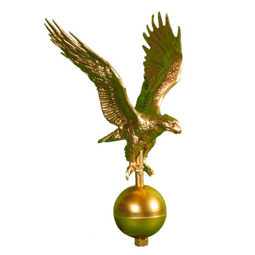 Montague Metal Products Flagpole Eagle, 12-Inch, Gold
