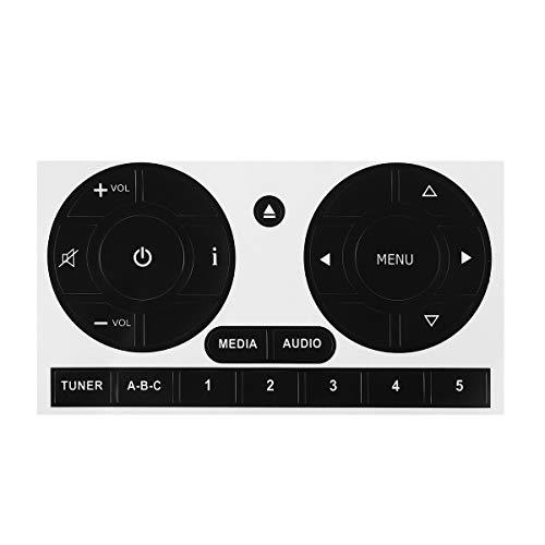 Chengxin Car Decals Fix Botón Feo New Car Media Audio del botón de Radio estéreo de reparación Las Etiquetas engomadas de la Etiqueta engomada para la reparación 500 (Color : Negro)