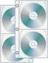 4 Disc Half Binder CD/DVD page - Pack of 50