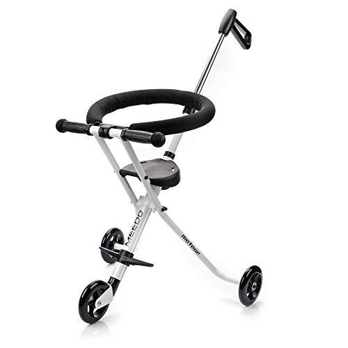 meteor Dreiräder MEEDO City Dreiräder Faltender Tret-Roller Dreiradscooter für den sicheren Transport Kleiner Kinder an Flughäfen, Einkaufszentren und Stadtzentren