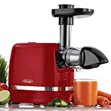Omega Juicer H3000RED Cold Press 365 Slow Masticating Juice Extractor Easy to Clean with Quiet Motor, 150-Watt, Red