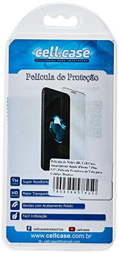 """Película de Vidro 3D, Cell Case, Smartphone Apple Iphone 7 Plus 5.5"""", Branco"""