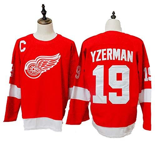 Yajun Steve Yzerman#19 Detroit Red Wings Eishockey Trikots Jersey NHL Herren Sweatshirts Atmungsaktiv T-Shirt Bekleidung,L