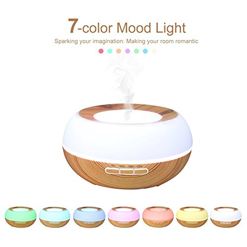 Find Cheap TRADE Yellow Wood Grain Ultrasonic Spray 7 Color Changing Waterless Auto Off Perfect Nigh...